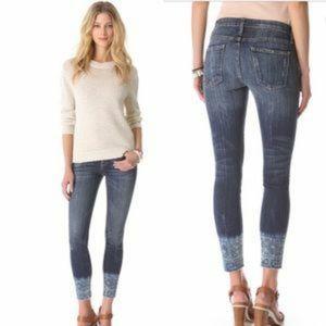 Current/Elliot Cut Off Stiletto Jeans Dakota Cuff